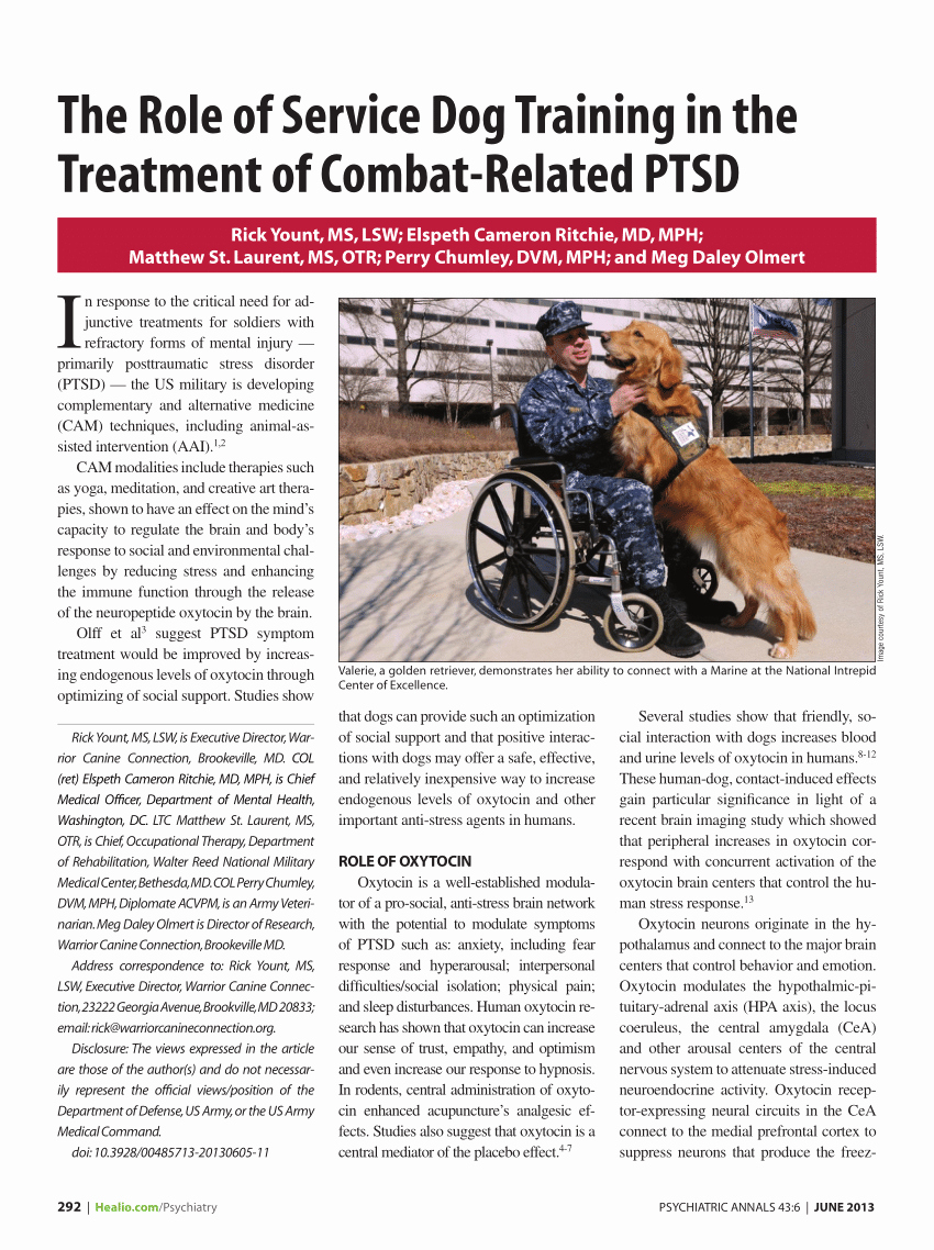 Service Dog Certificate Pdf Elegant Pdf the Role Of Service Dog Training In the Treatment Of Bat Related Ptsd