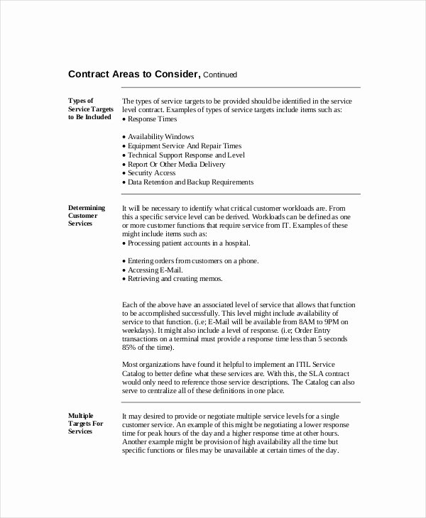 Service Level Agreement Pdf Awesome Service Level Agreement 22 Free Pdf Word Psd Documents Download