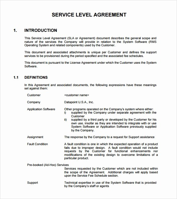 Service Level Agreement Pdf Best Of 18 Service Level Agreement Samples Word Pdf