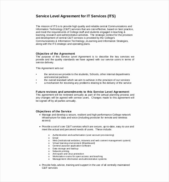Service Level Agreement Pdf Best Of 22 Service Agreement Templates – Word Pdf Apple Pages Google Docs
