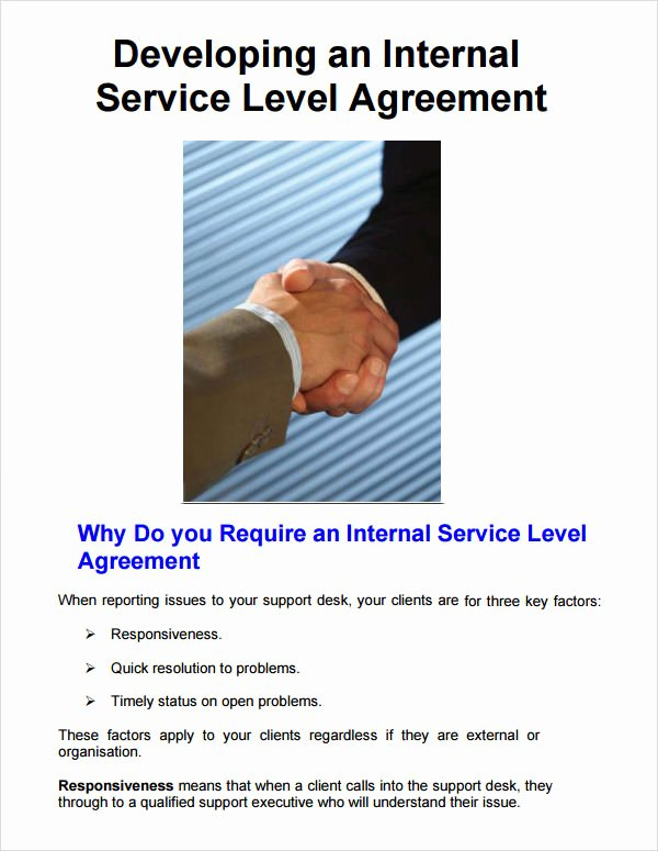 Service Level Agreement Pdf Fresh Service Level Agreement 8 Free Pdf Doc Download