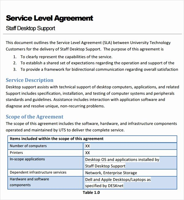 Service Level Agreement Pdf Inspirational Free 18 Service Agreement Templates In Google Docs Ms Word Pages