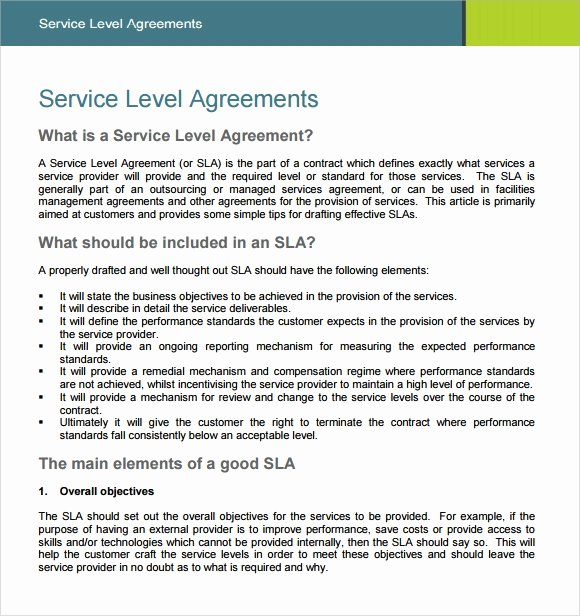 Service Level Agreement Pdf Lovely 18 Service Level Agreement Samples Word Pdf