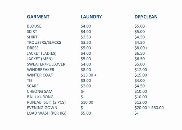 Services Price List Template Beautiful Cleaning Services Price List Template