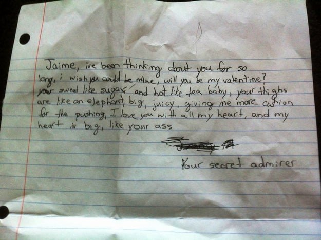 "Short Love Letter for Gf Inspirational 11 the Funniest ""secret Admirer"" Notes Kids Have Given to their Crushes"