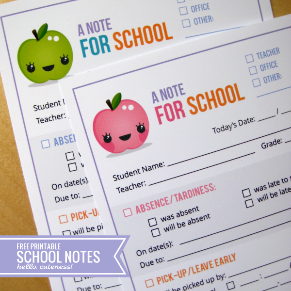 Sick Note for School Example Beautiful Free School Note Printables 24 7 Moms
