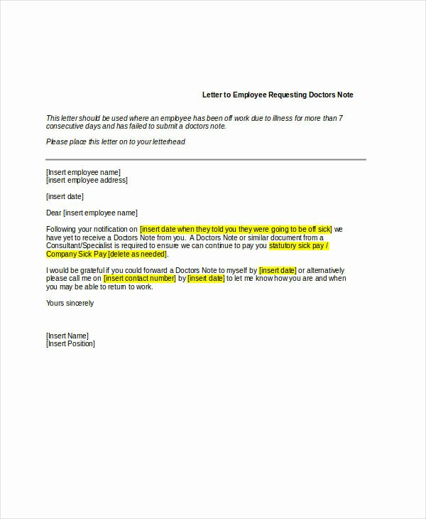 Sick Note for School Example New Free 8 Doctor Note Examples & Samples In Pdf Doc