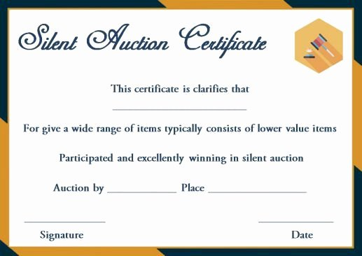 Silent Auction Certificate Template Beautiful Silent Auction Winner Certificate Template Explore Best Templates In Word and Pdf Documents