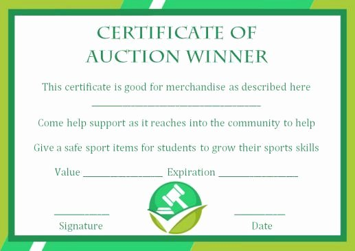 Silent Auction Certificate Template Elegant Silent Auction Winner Certificate Template Explore Best Templates In Word and Pdf Documents