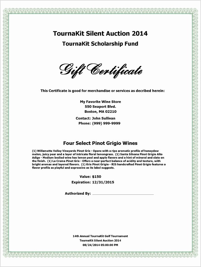 Silent Auction Certificate Template New Charity Auction forms 108 Silent Auction Bid Sheet Templates