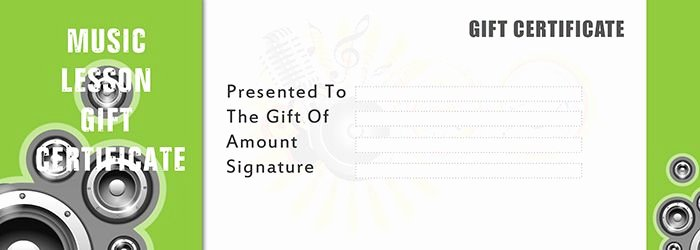 Silent Auction Gift Certificate Template Awesome Music Lesson Gift Certificate Template Free Gift Certificate Template