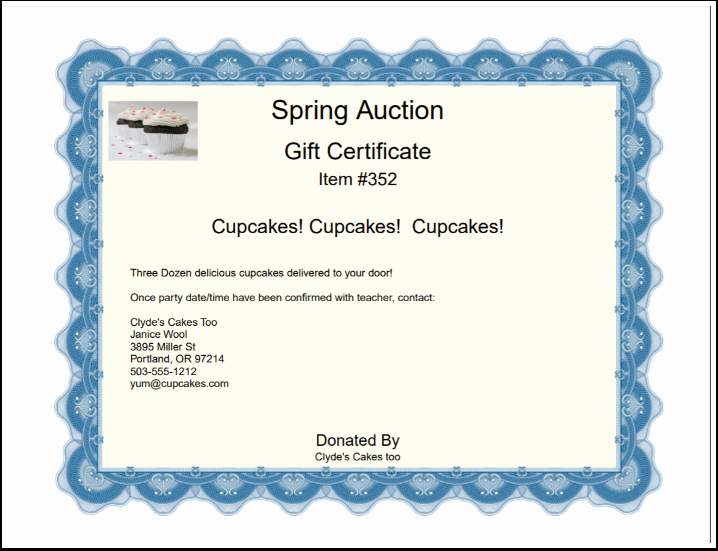 Silent Auction Gift Certificate Template Fresh Creating Gift Certificates – Auction Help Home