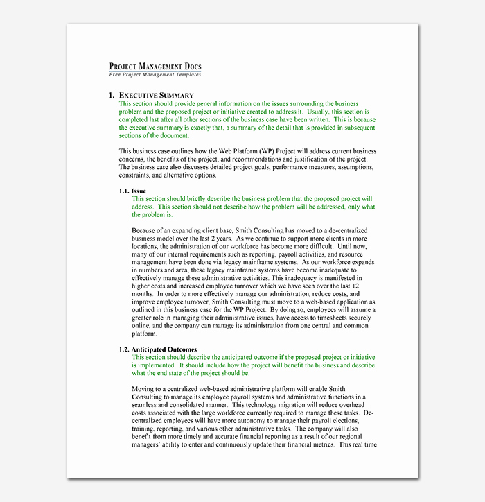 Simple Business Case Example Unique Business Case Template 9 Simple formats for Word Excel Pdf