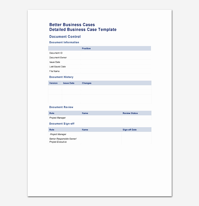 Simple Business Case Template Awesome Business Case Template 9 Simple formats for Word Excel Pdf