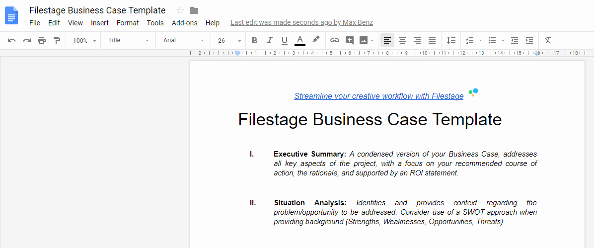 Simple Business Case Template Best Of This Business Case Template Takes Your Projects to the Next Level Filestage Blog