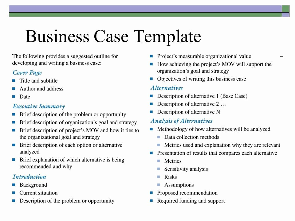 Simple Business Case Template Fresh Simple Business Case Examples