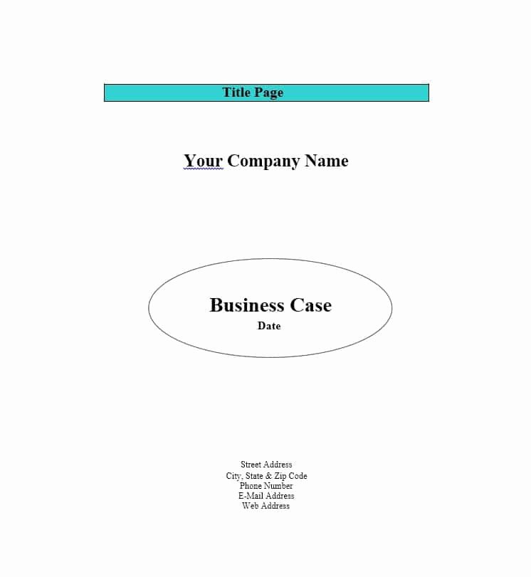 Simple Business Case Template Luxury 30 Simple Business Case Templates & Examples Template Lab