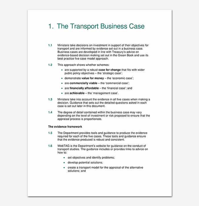 Simple Business Case Template New Business Case Template 9 Simple formats for Word Excel Pdf