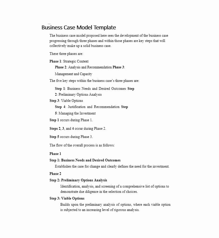 Simple Business Case Templates Awesome 30 Simple Business Case Templates & Examples Template Lab