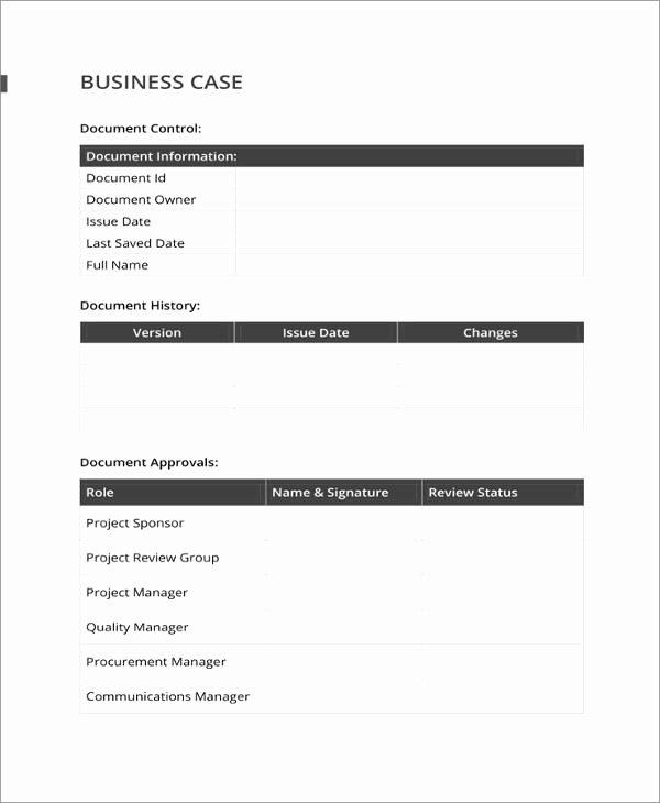 Simple Business Case Templates Beautiful 13 Business Case Templates Pdf Doc