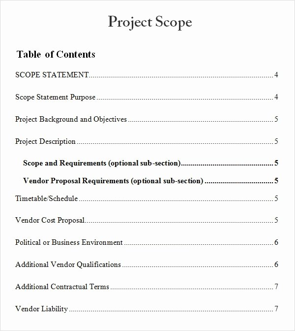 Simple Project Scope Template Best Of 8 Sample Project Scope Templates – Pdf Word