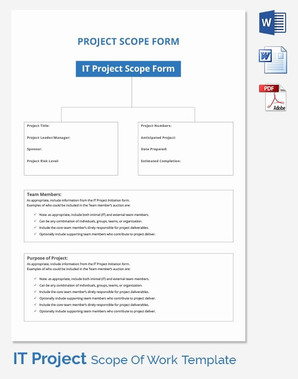 Simple Project Scope Template Elegant Scope Of Work Template 36 Free Word Pdf Documents Download