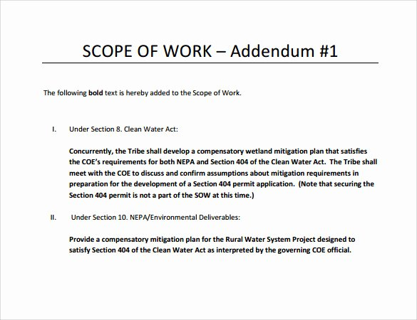 Simple Project Scope Template Fresh Free 21 Sample Scope Of Work Templates In Pdf Word