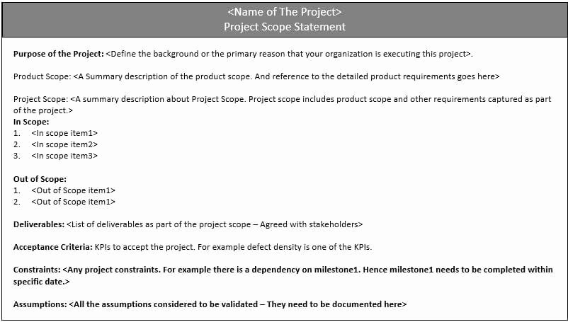 Simple Project Scope Template Fresh Project Scope Statement – How to Define Scope In Your Project