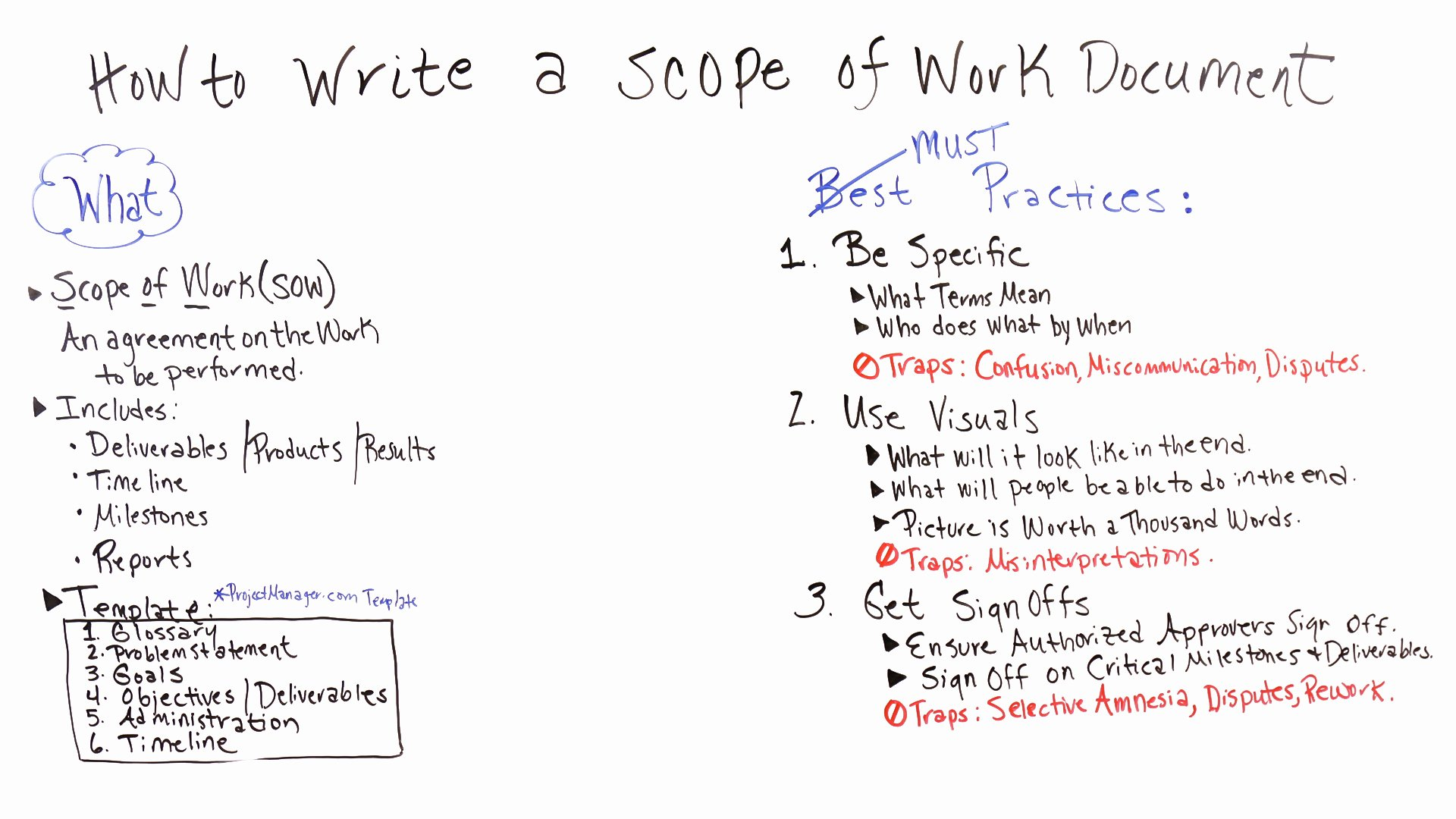 Simple Project Scope Template Unique How to Write A Scope Of Work Projectmanager