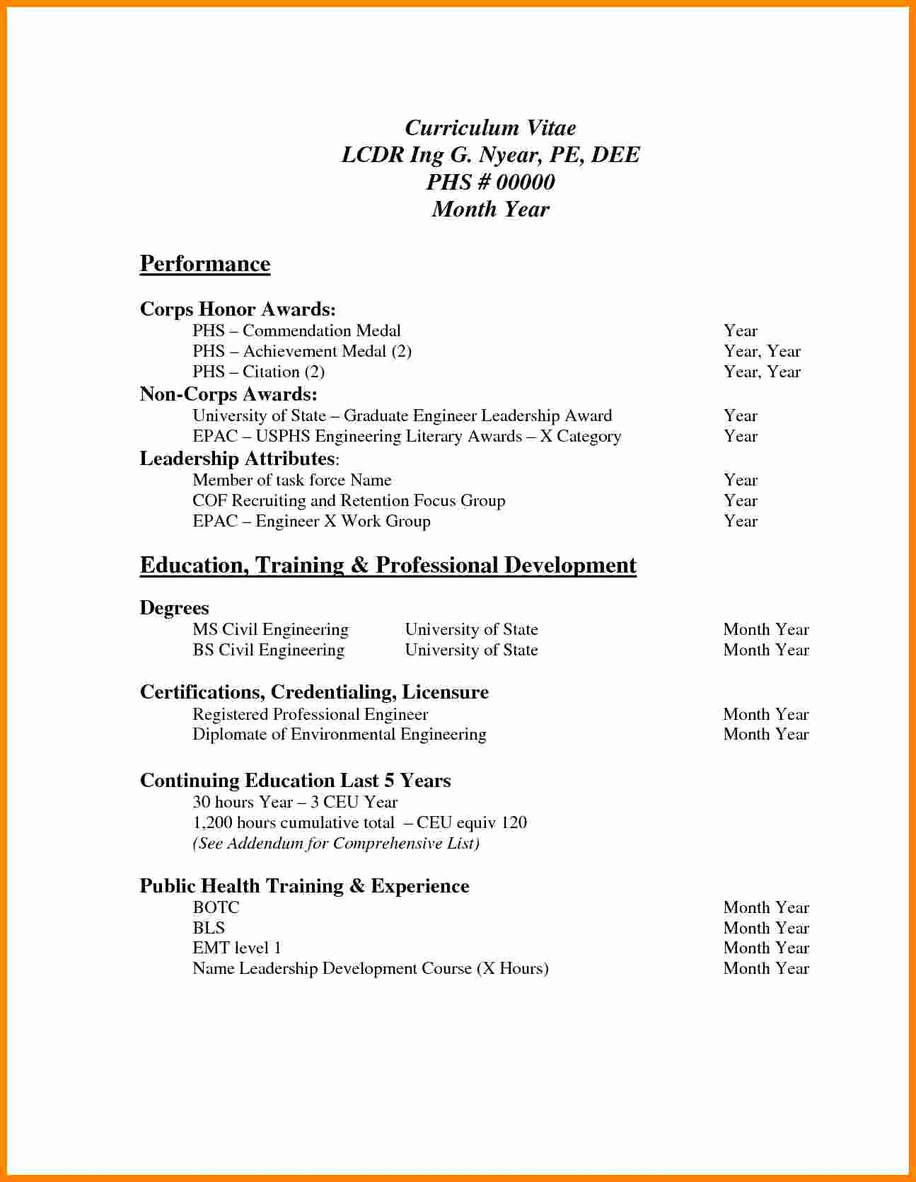 Simple Resume format for Freshers Elegant 7 Cv Samples for Freshers Pdf