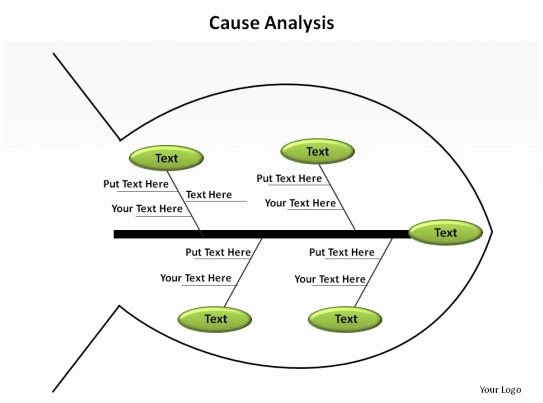 Simple Root Cause Analysis Template Awesome Cause Analysis Fishbone Simple Slides Presentation Diagrams Templates Powerpoint Info Graphics