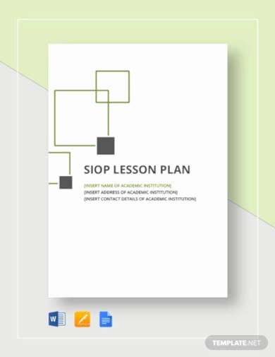 Siop Lesson Plan Template 1 Awesome 5 Best Siop Lesson Plan Templates Pdf Google Docs Apple Pages Word