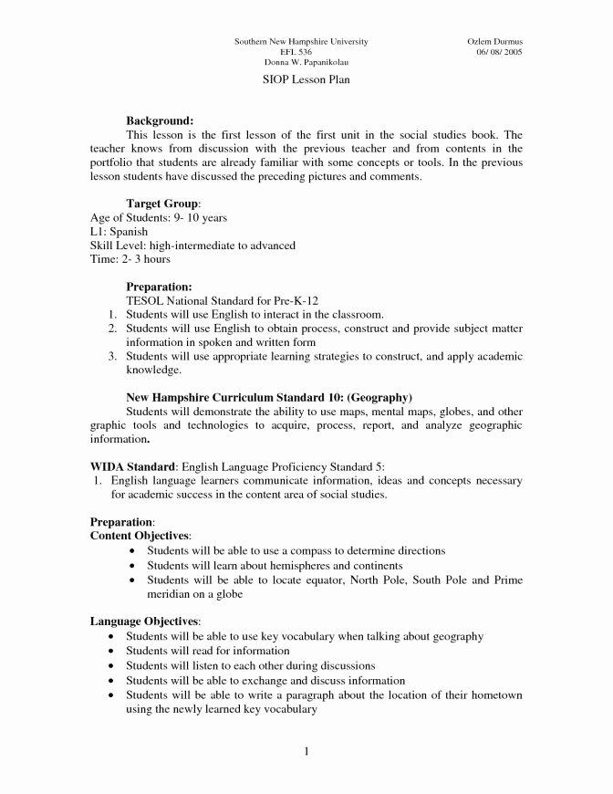 Siop Lesson Plan Template 1 Inspirational Sample Siop Lesson Plan Template Download – Siop Lesson Plan Template Word Document
