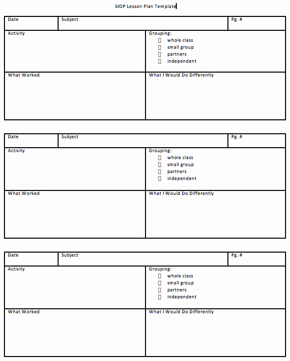 Siop Lesson Plan Template 2 Beautiful Download Siop Lesson Plan Template 1 2