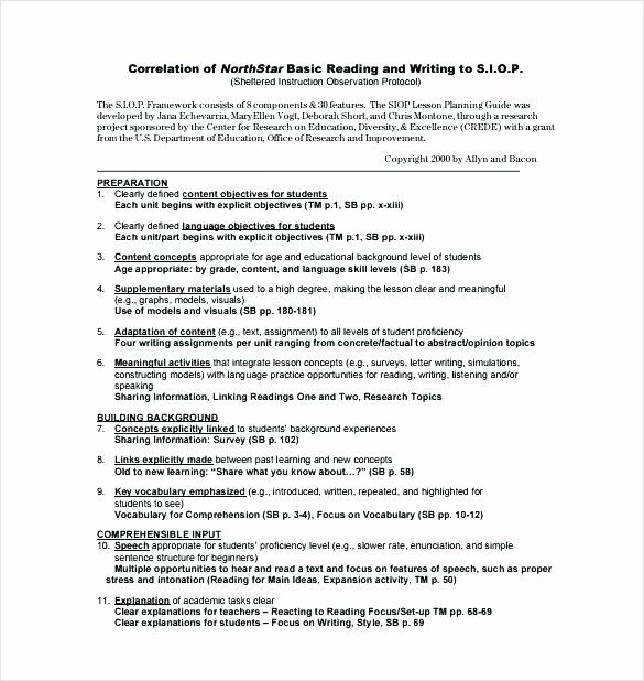 Siop Lesson Plan Template 2 Best Of Siop Lesson Plan Template 3 Example – Siop Lesson Plan Template 3 Unique Siop Lesson Plan