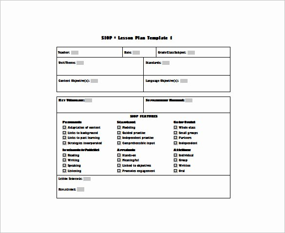 Siop Lesson Plan Template 3 Awesome 10 Siop Lesson Plan Templates Doc Excel Pdf