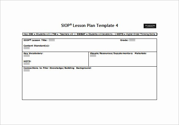 Siop Lesson Plan Template 3 Inspirational 10 Siop Lesson Plan Templates Doc Excel Pdf