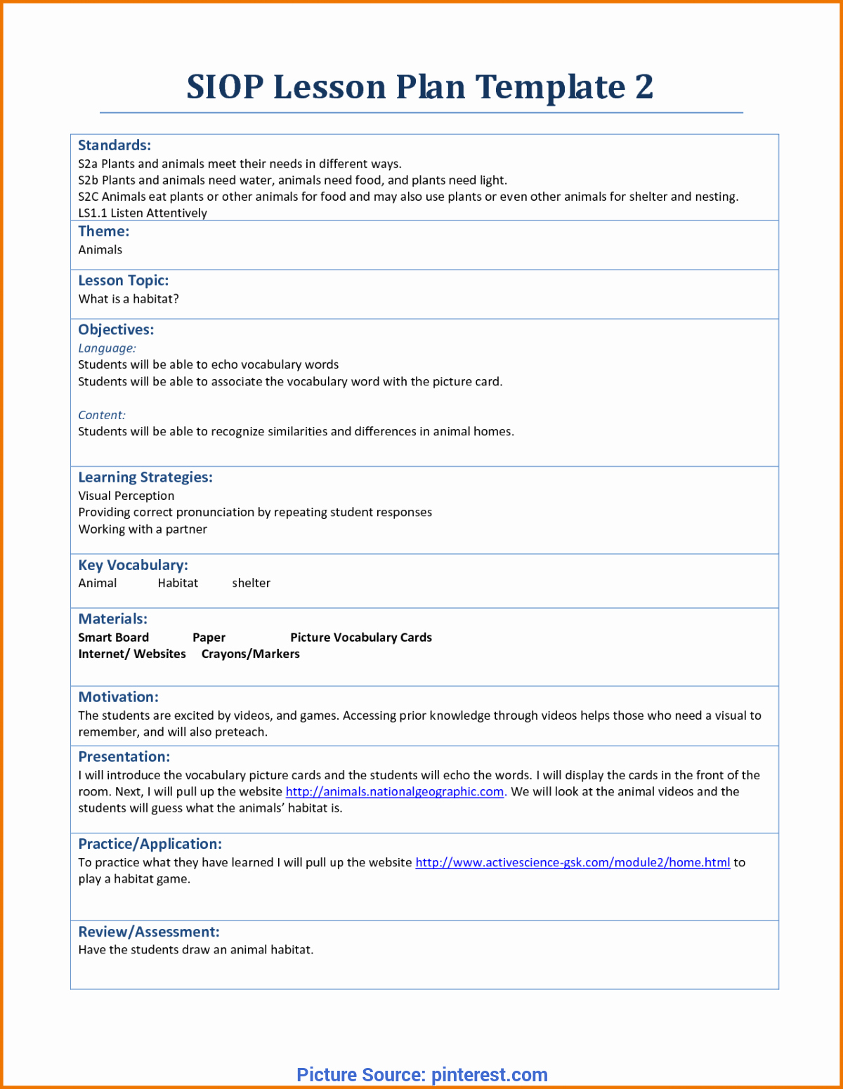 Siop Lesson Plan Template 3 Luxury Fresh Siop Lesson Plan Template 3 Example Siop Lesson Plan Template 2 Doc