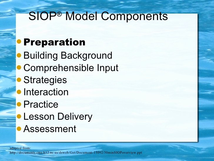 Siop Model Lesson Plan Template Fresh Siop Presentation Schnee