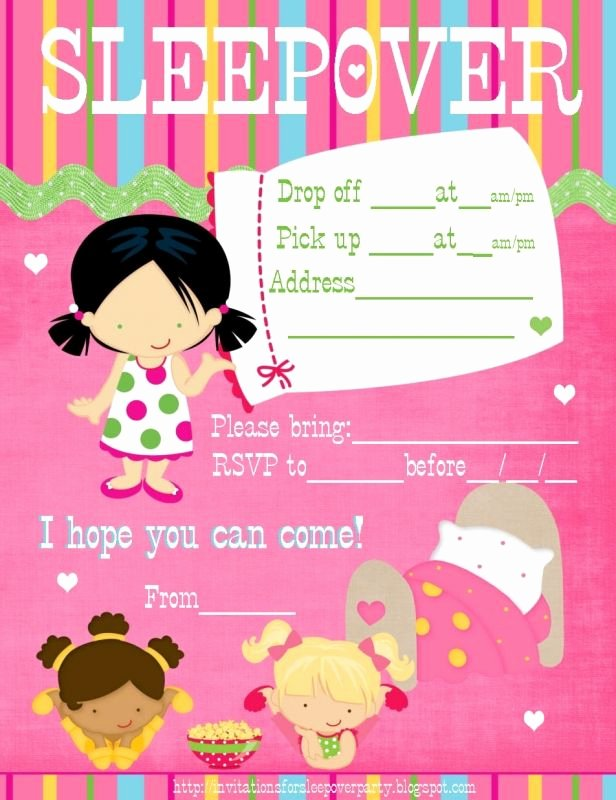 Slumber Party Invitations Templates Free Awesome Sleepover Party Invitations Templates Free Party Invitations Pinterest