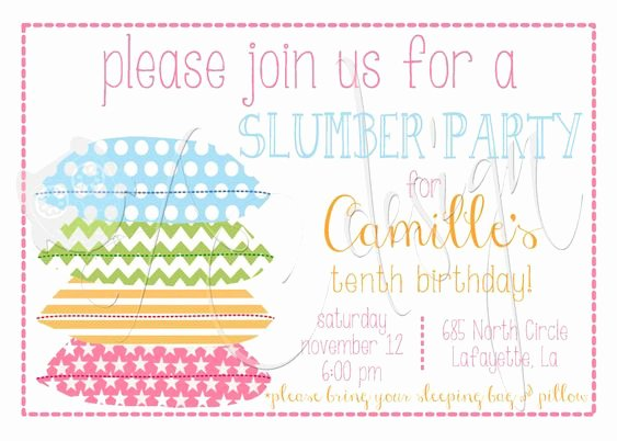 Slumber Party Invitations Templates Free Beautiful Free Printable Slumber Party Invitations Girls – Invitation Templates Word