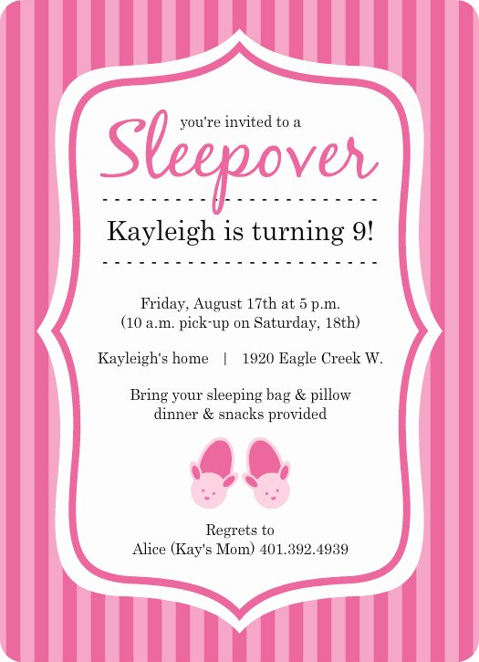 Slumber Party Invitations Templates Free Best Of Pretty In Pink Bunny Slippers Slumber Party Invite Template