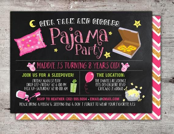 Slumber Party Invitations Templates Free Best Of Slumber Party Invitation Girls Slumber Party Invitations