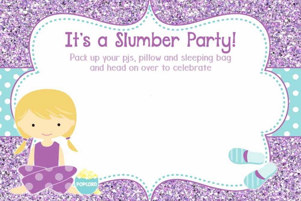 Slumber Party Invitations Templates Free Fresh 50 Beautiful Slumber Party Invitations