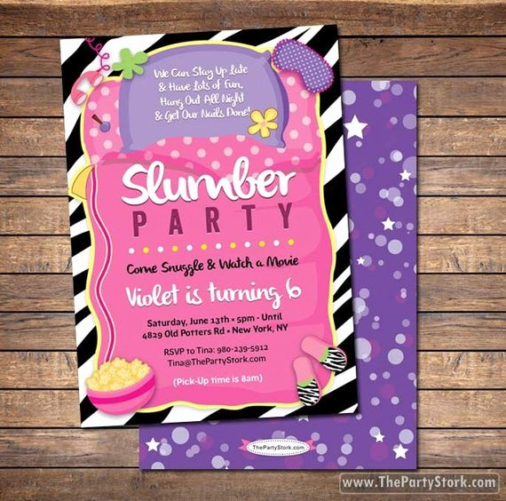 Slumber Party Invitations Templates Free Fresh Slumber Party Invitation Sleepover Invitation Sleepover