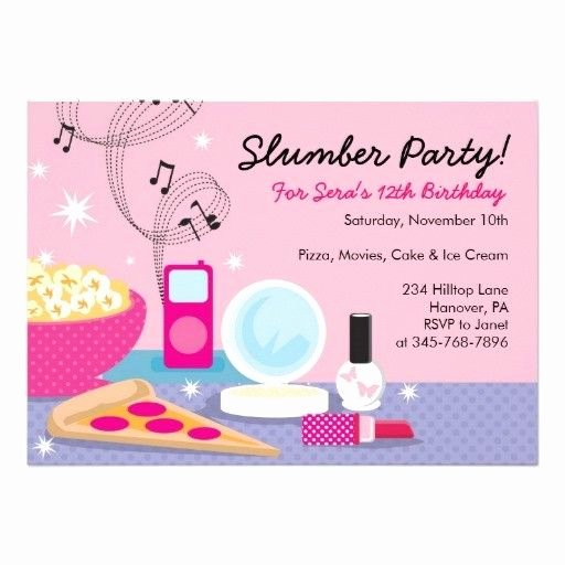 Slumber Party Invitations Templates Free Lovely Sleepover Party Invitations Templates Free Birthday Pinterest