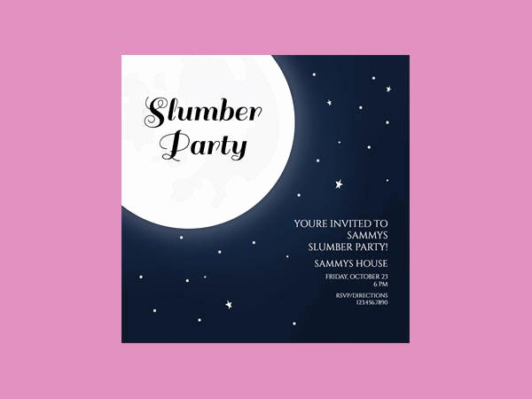 Slumber Party Invitations Templates Free New 14 Slumber Party Invitation Designs & Templates – Party Invitation Templates