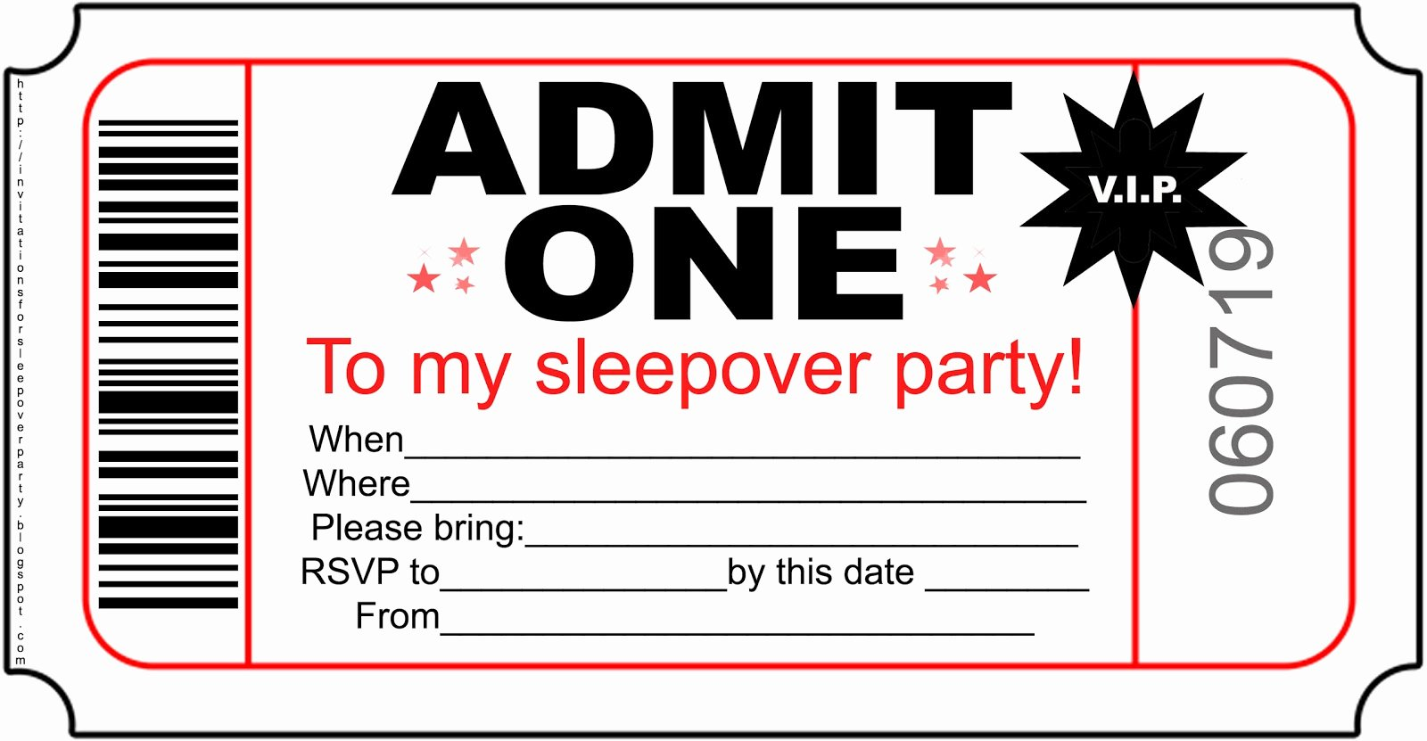 Slumber Party Invitations Templates Free New Invitations for Sleepover Party