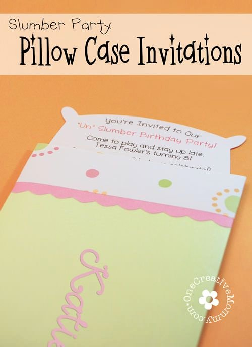 Slumber Party Invitations Templates Free Unique Pillow Case Un Slumber Party Invitations