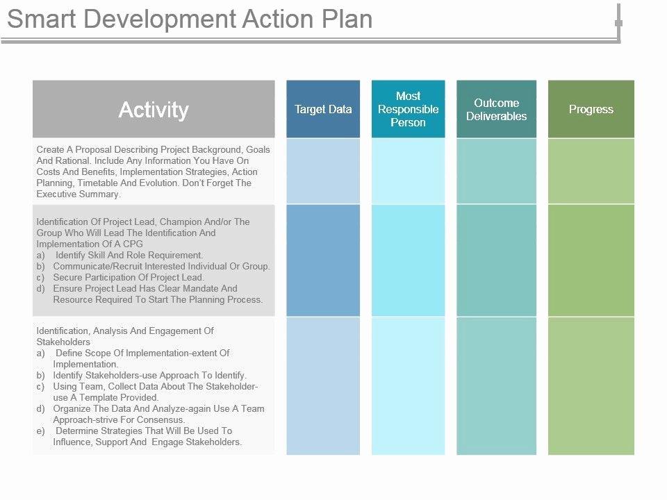 Smart Action Plans Template Inspirational Smart Development Action Plan Ppt Infographic Template